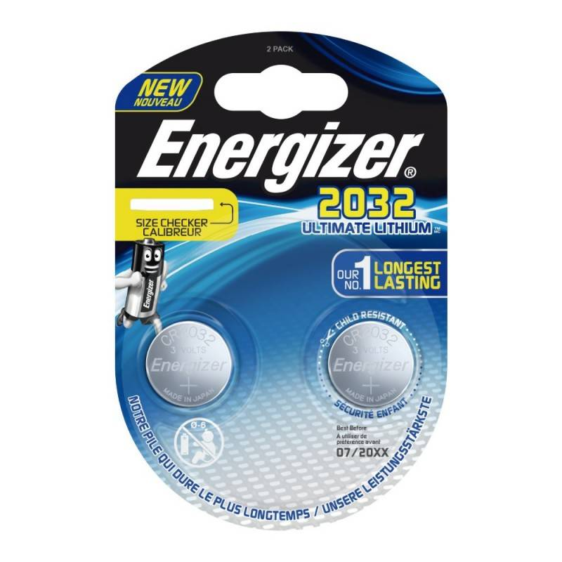 Pilha Energizer CR2032 Lithium Performance, Blister de 2Un.