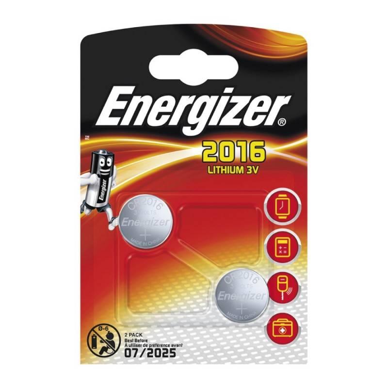 Pilha Energizer CR2016 de lítio, Blister de 2Un.