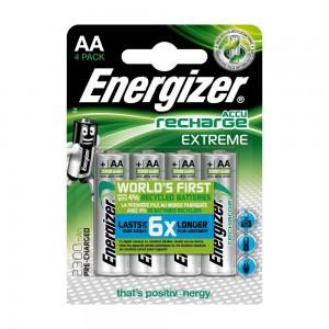 Pilha Recarregável Energizer Extreme 2300mAh HR6 (AA) Blister de 4 Um.