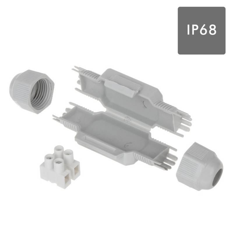 MINI TORPEDO ESTANQUE COM GEL IP68 E RÉGUA 2x2,5mm. BLISTER 1UN.