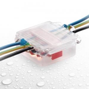 Torpedo conector estanque com gel isolante IP68 inclui conectores para 3 cabos 1 a 6mm