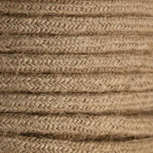 Cabo elétrico decorativo têxtil trançado 2X0,75 linho