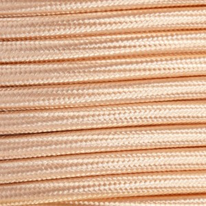 Cabo elétrico têxtil decorativo nórdico 2X0,75 ouro rosa