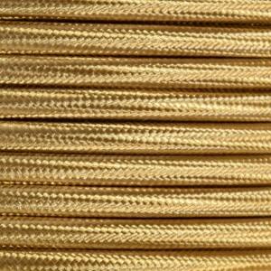 Cabo elétrico decorativo têxtil estilo nórdico 2X0,75 cor Bronze