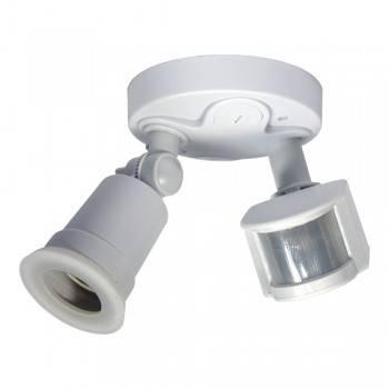 Porta-lâmpadas para lâmpada LED E27 com sensor de movimento PIR IP44