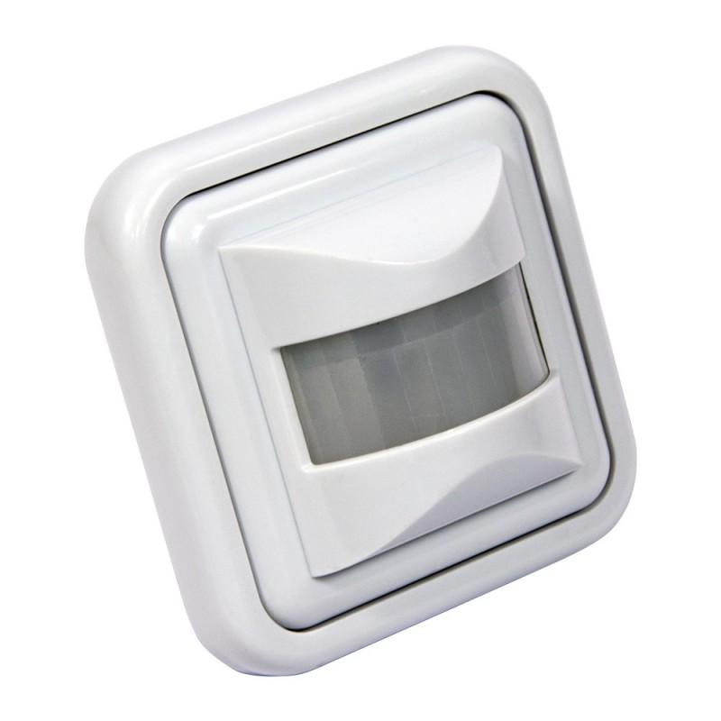 Sensor de movimento PIR encastrável de parede 160° IP20