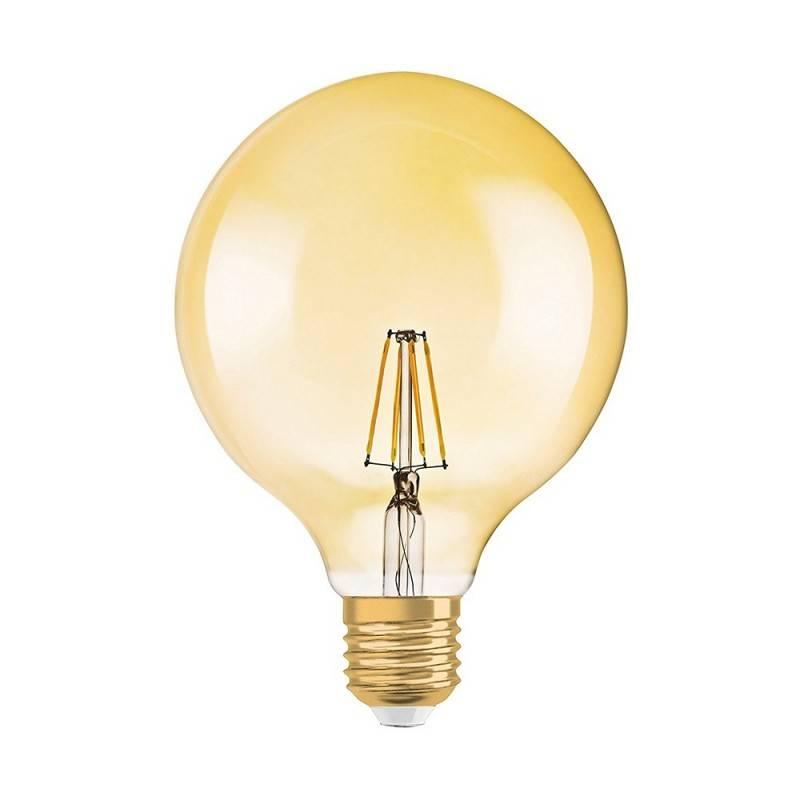 Lâmpada LED Vintage OSRAM 1906 Edison ST64 E27 7.5W regulável circular