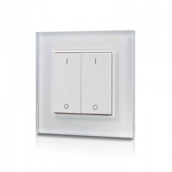 Interruptor duplo regulador para luzes monocor por radiofrequência