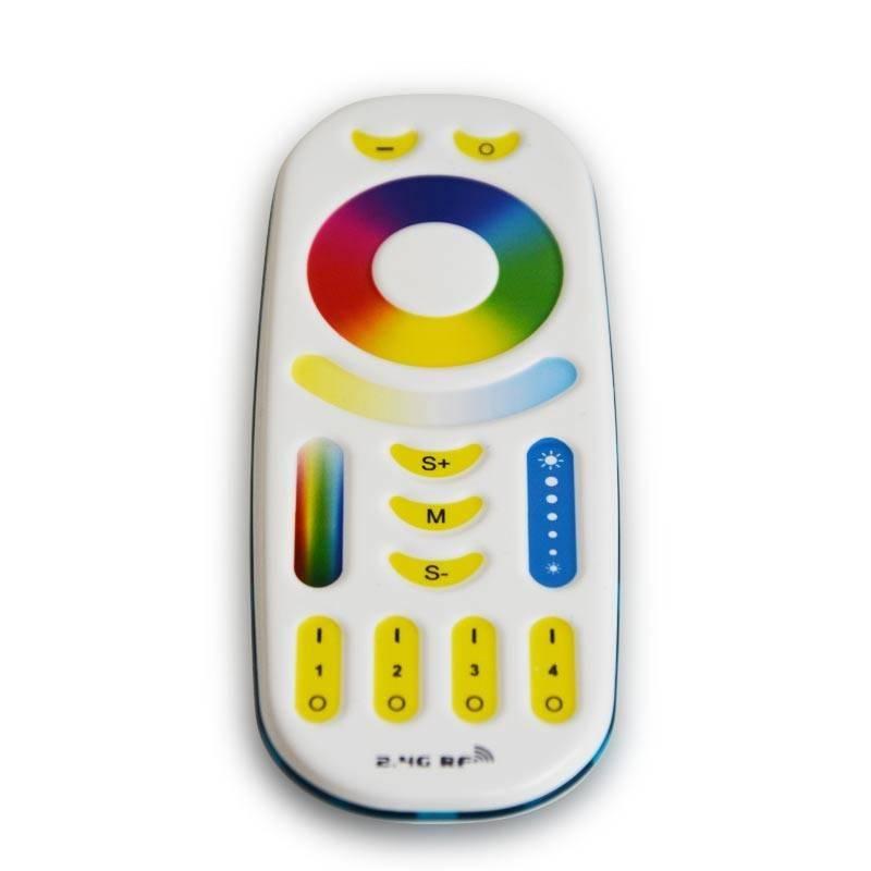 Comando Controlador Lâmpada LED E27 RGB+CCT por Radiofrequência