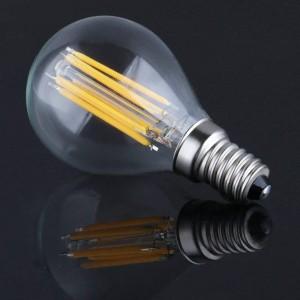 Lâmpada LED esférica de filamento E14 G45 6W 720lm