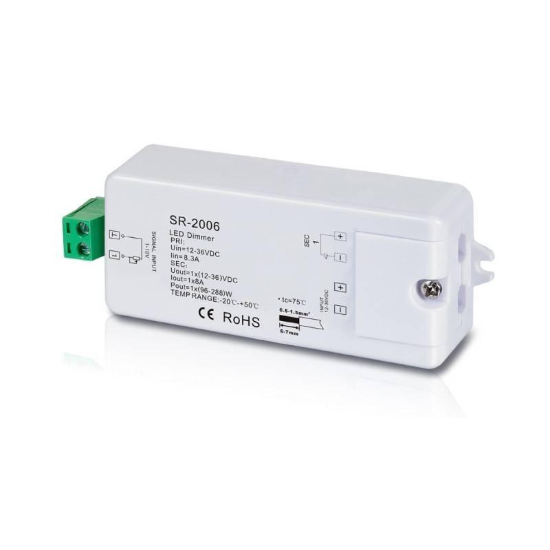 Descodificador 0-10V Dimmer 12-36V - 1CH/8A