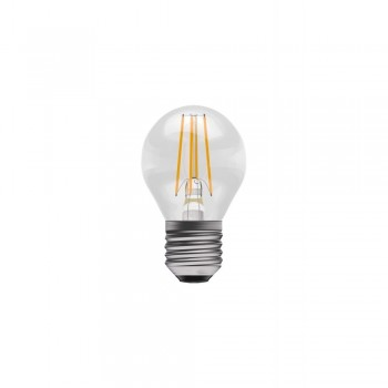 Lâmpada LED esférica de filamento E27 4W G45 350lm 3000K