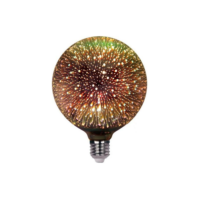 Lâmpada LED Globo E27 G125 6W BIG BANG 3D