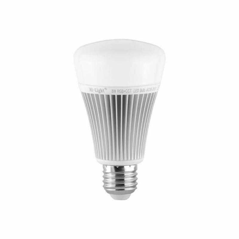 Lâmpada LED RGBWW E27 8W por Radiofrequência