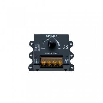 Dimmer PWM manual de frequência e curva de regulação ajustáveis 12/24V 30A