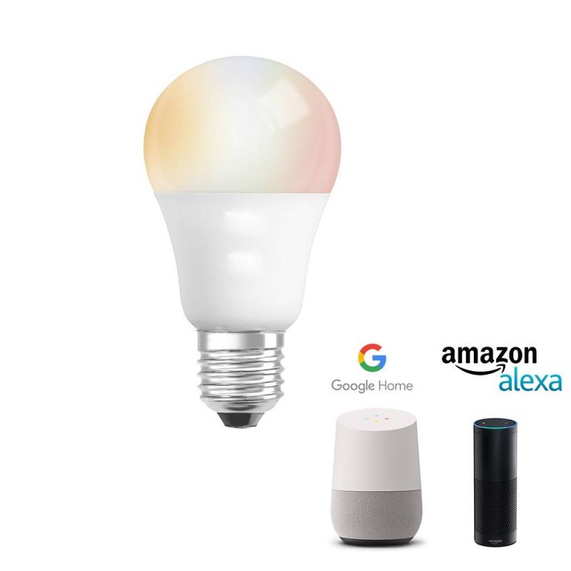 Lâmpada LED SMART RGBWW A60 E27 6W WIFI compatível com Google Home / Alexa