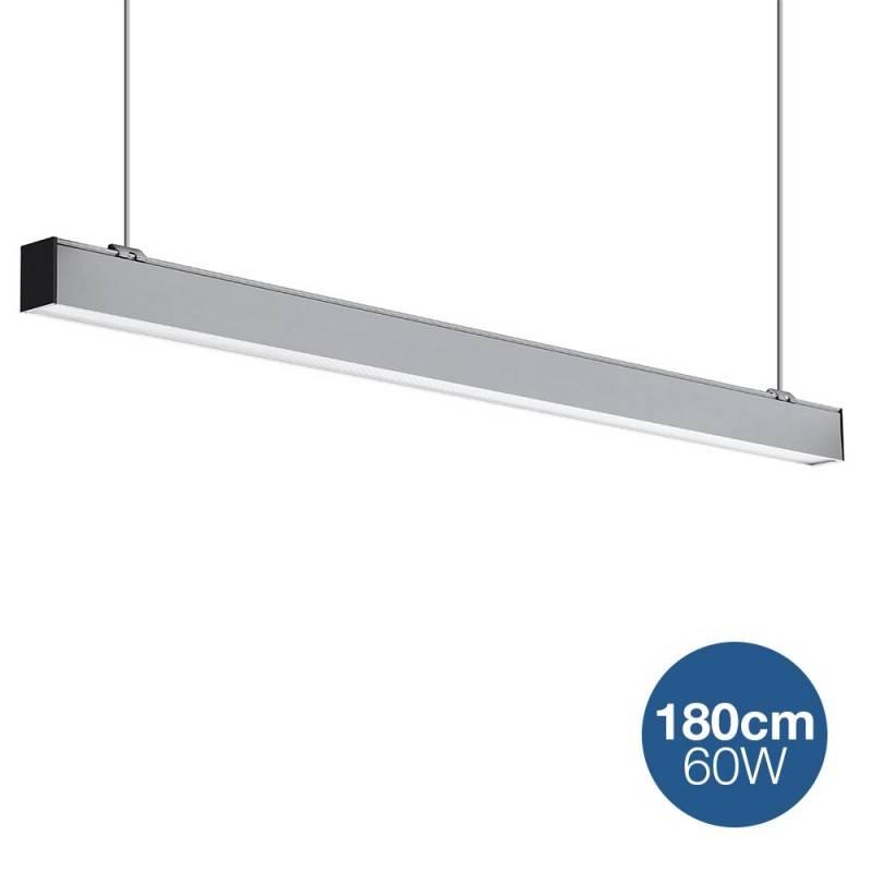 Candeeiro linear LED suspensão 60W 180 cm 5100lm