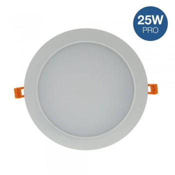 Placa downlight LED encastrável circular 25W
