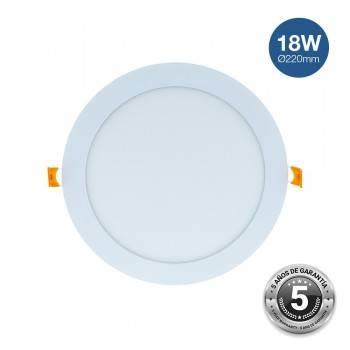 Placa downlight LED encastrável circular 18W IP20 - 5 anos de garantia