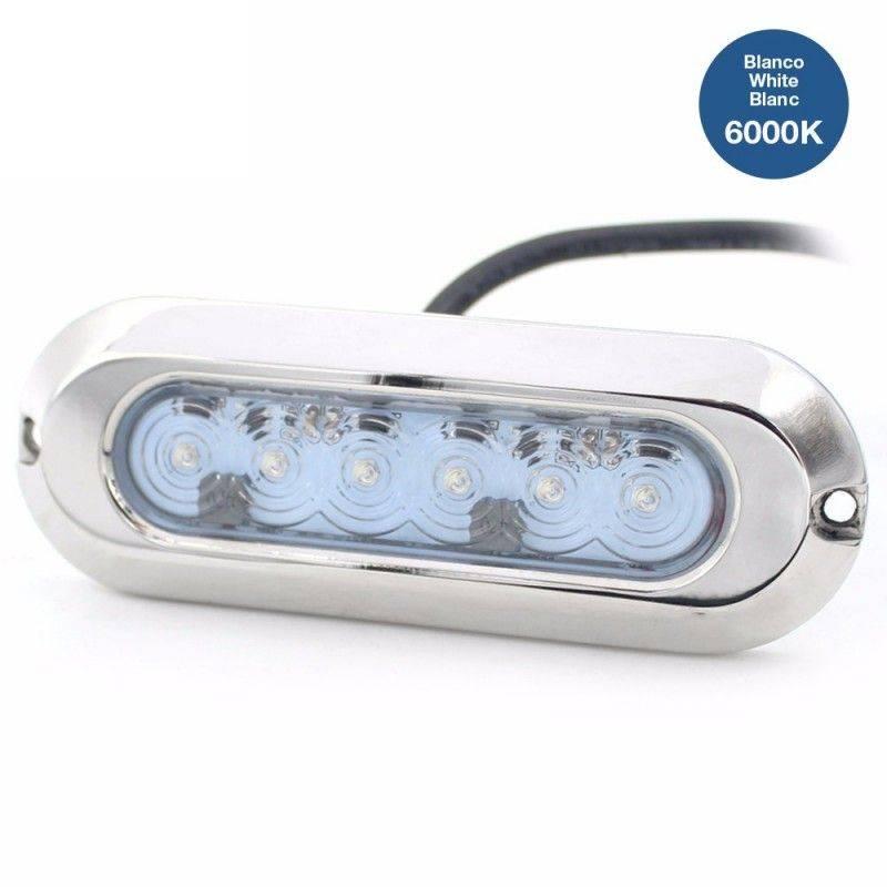 Lâmpada LED de superfície submersível SLIM 30W 9-32V inox 316L IP68