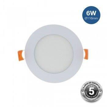 Placa downlight LED encastrável circular 6W - 5 anos de garantia