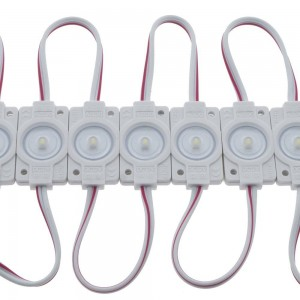 Sequência de 20 módulos LED para sinalização SMD2835 0.6W 12V 170° IP65