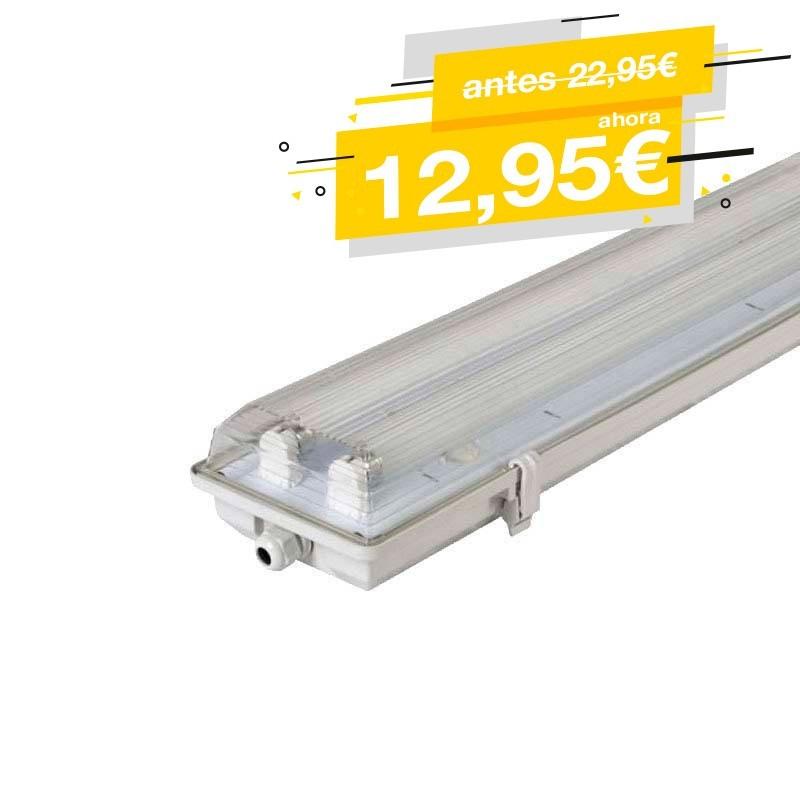 Armadura estanque para 2 tubos LED T8 120cm IP65