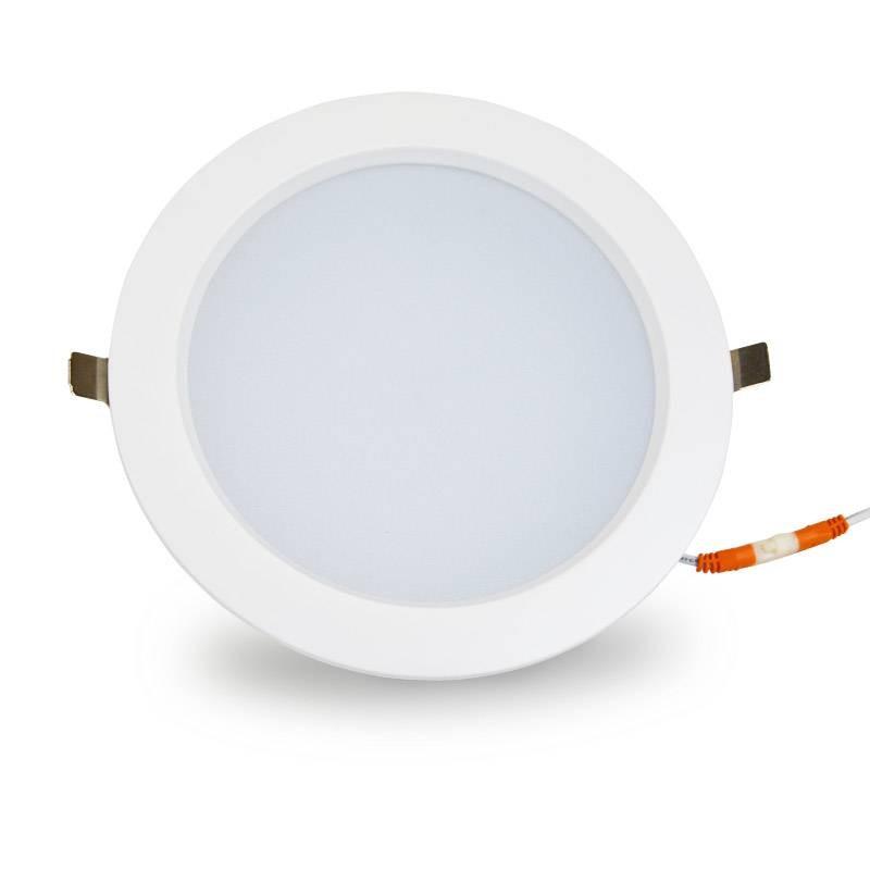 Placa downlight LED encastrável circular 38W