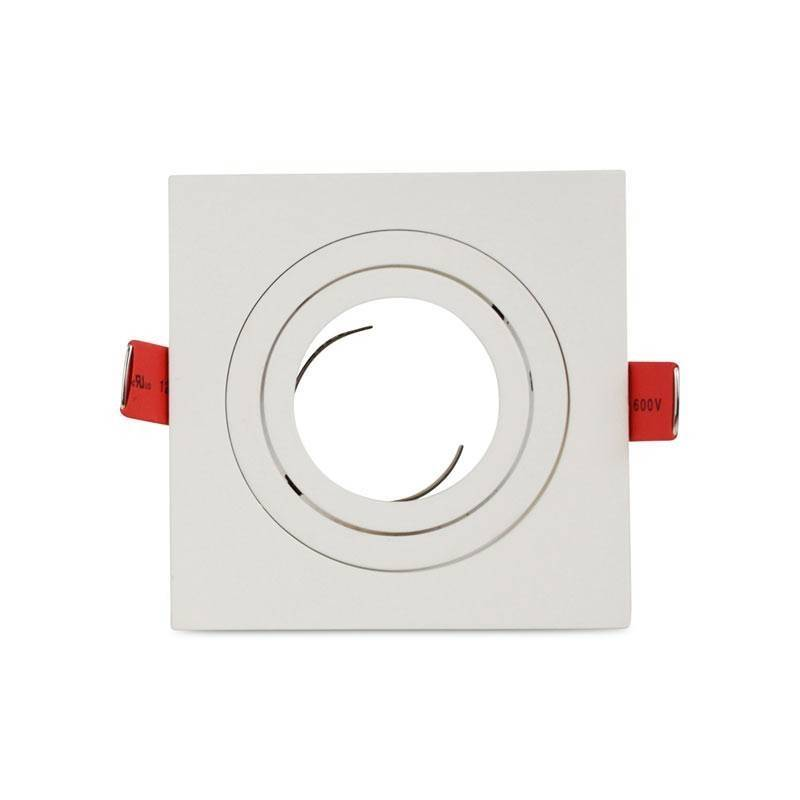 Moldura quadrada downlight basculante PREMIUM para GU10 / MR16