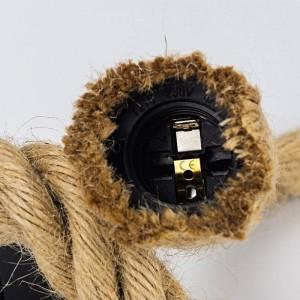 """Candeeiro suspenso de corda """"ROPE LAMP"""" - E27"""