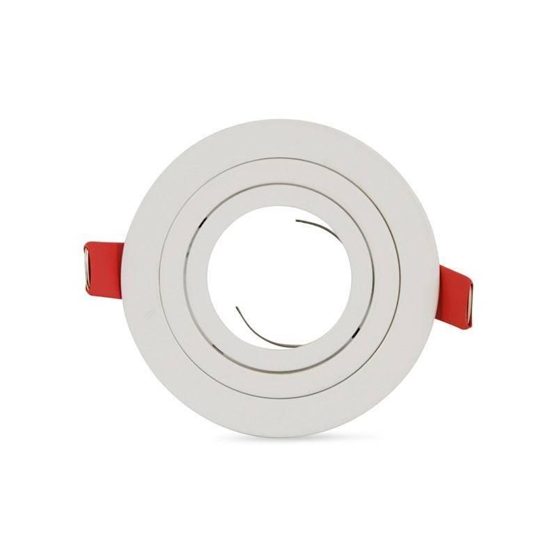 Anel circular downlight basculante PREMIUM para lâmpada LED GU10