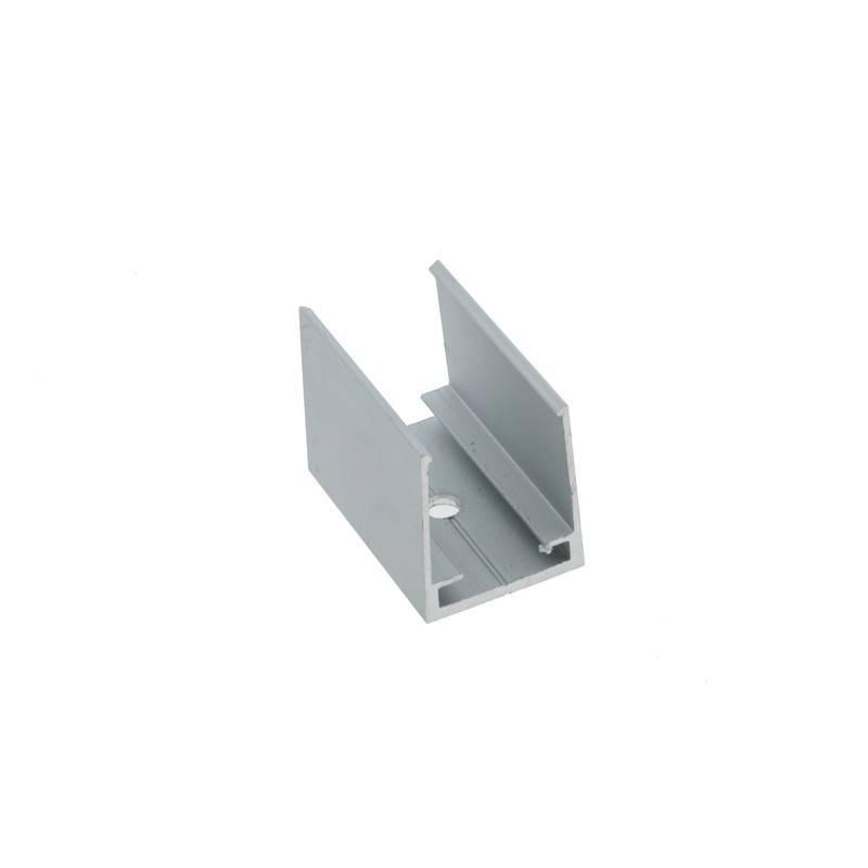 Grampo de fixação para perfil flexível de silicone 16x16mm