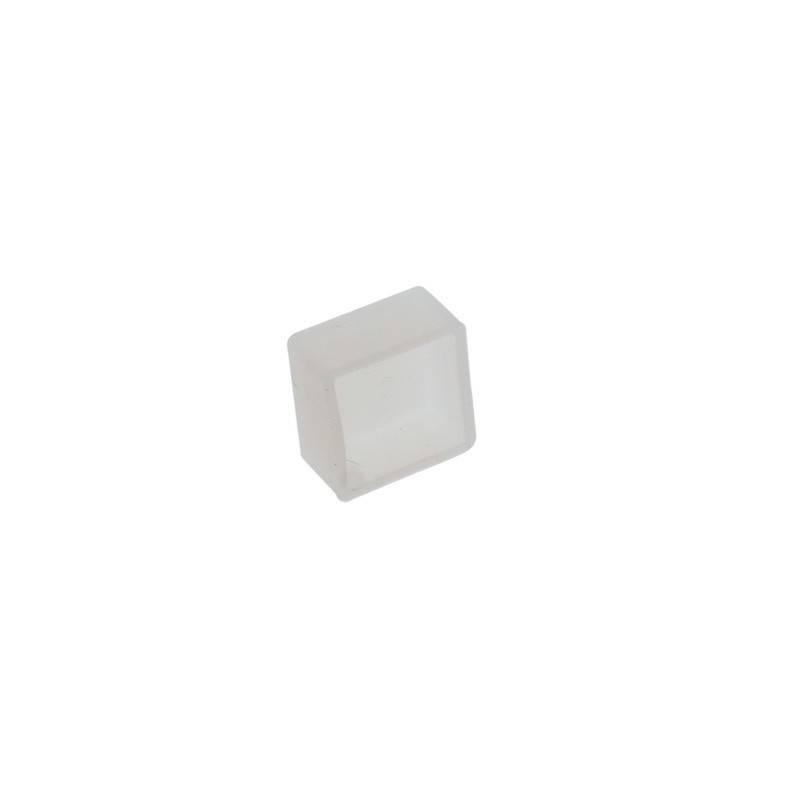 Tampa para perfil de silicone flexível de 16x16mm