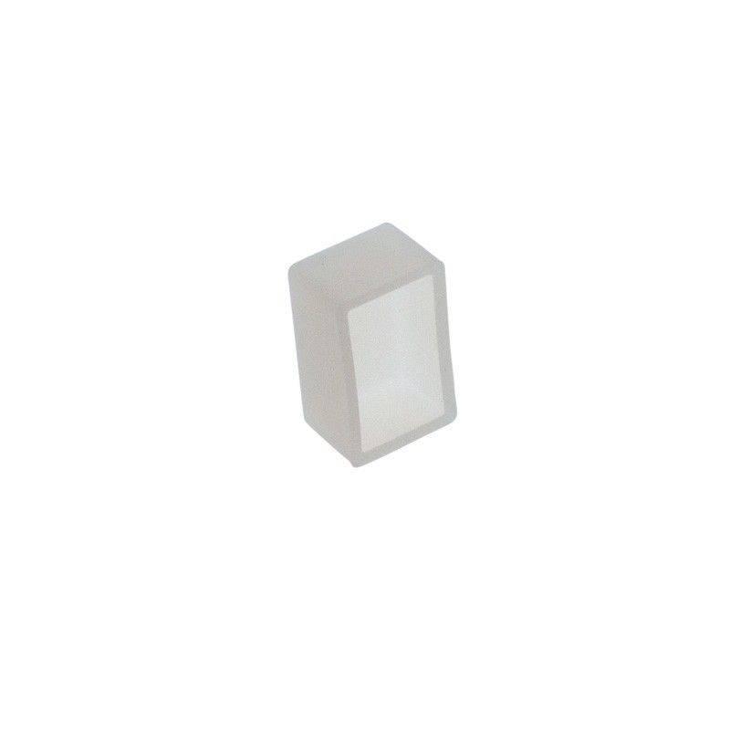 Tampa para perfil de silicone flexível de 10x18mm