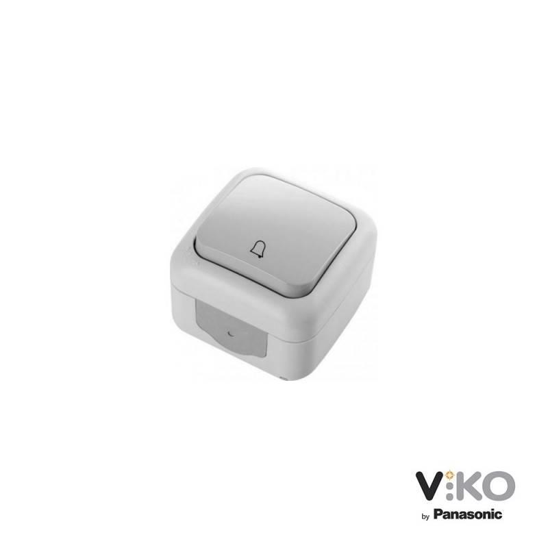 Botão 10A 250V com símbolo de campainha IP54 VIKO by Panasonic