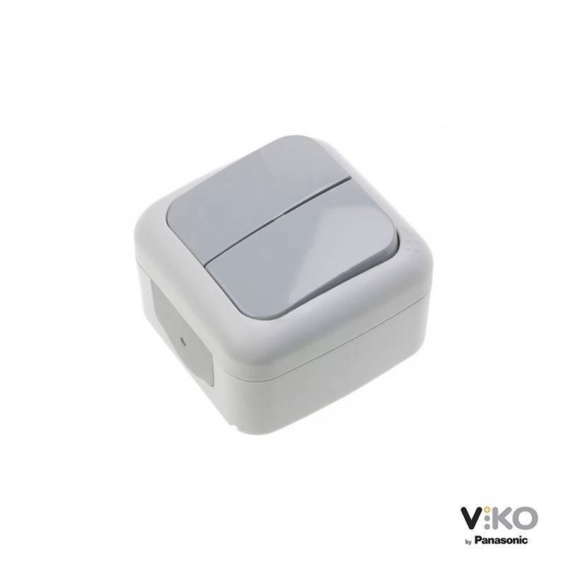Interruptor de duas vias estanque 10A 250V IP54 VIKO by Panasonic