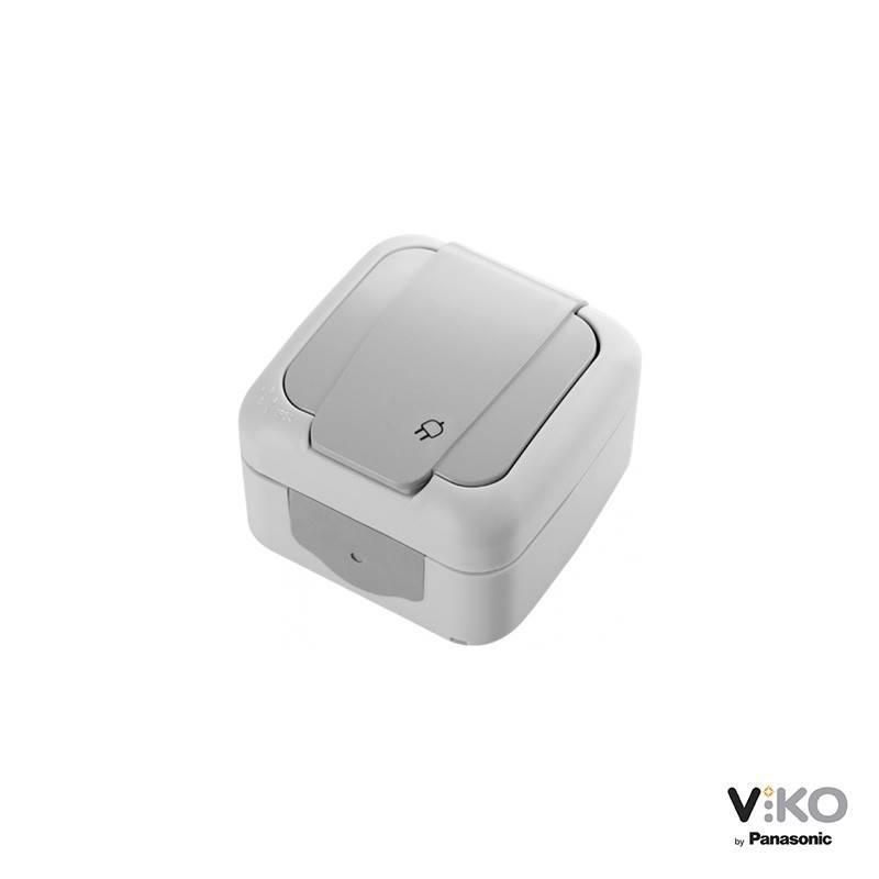 Tomada de corrente com tampa 16A 250V IP54 VIKO by Panasonic