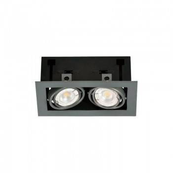 Cardã de aço para duas lâmpadas dicroicas GU10