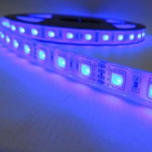 Faixa de LED 12V-DC 72W 10  mm multicor RGB IP67 (SMD5050 60ch/m) Rolo 5 metros