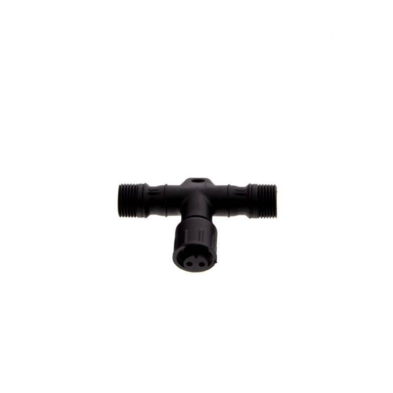Conector estanque T 2 pinos à prova de água para balizas LED de 12 / 24V IP67