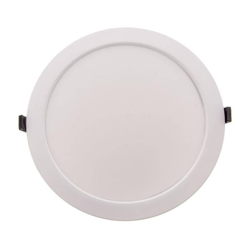 Placa downlight LED encastrável circular CCT 40W com seletor de temperatura de cor IP54