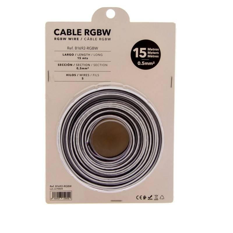 Cabo RGBW de 5 fios para Instalação 12-24V - Rolo 15m