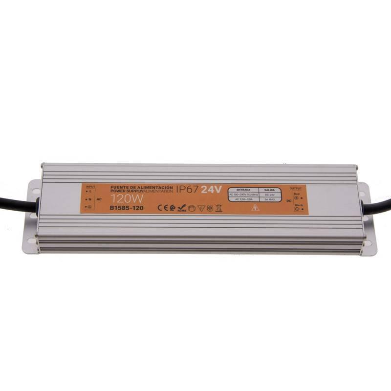 Fonte de alimentação estanque compacta 24V 120W IP67