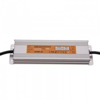 Fonte de alimentação estanque compacta 24V 60W IP67