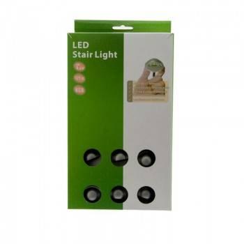 KIT Luzes de escada RGB IP67, 0,4Wx6, Ø35x24mm