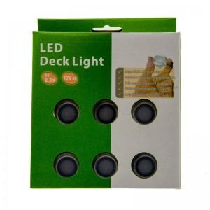 Kit de 6 luzes LED encastráveis no piso 0.3W 12V-DC IP67