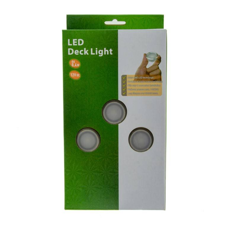 KIT 6 balizas LED Ø40X20mm 0,4W 12V-DC IP67