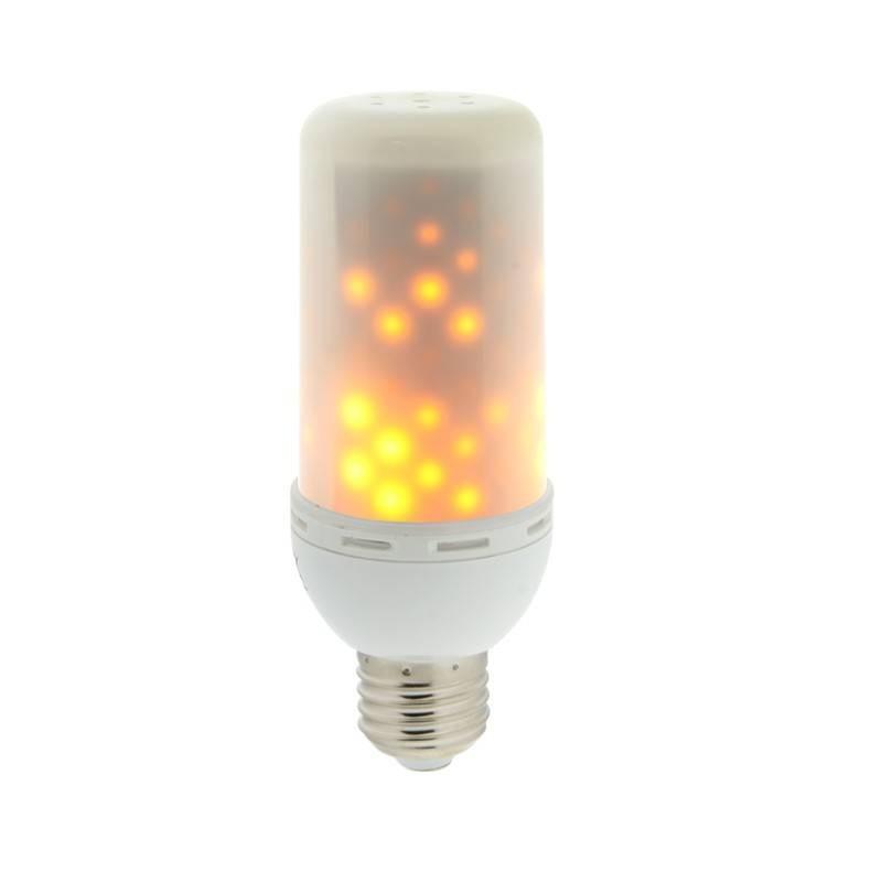 Lâmpada LED E27 4,5W efeito chama