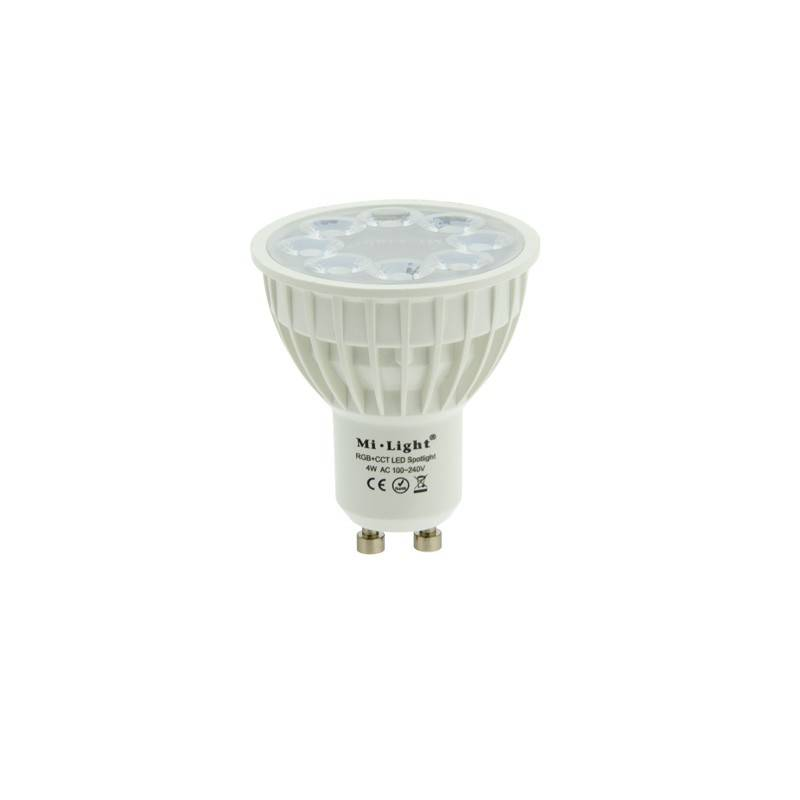 Lâmpada GU10 LED RGBW+CTT 4W Controlo por RF