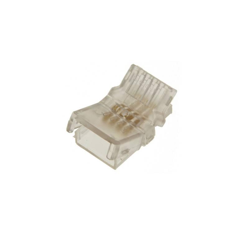 Conector rápido estanque 4 pinos RGB - Fita para cabo PCB 10mm IP66 - máx. 24V